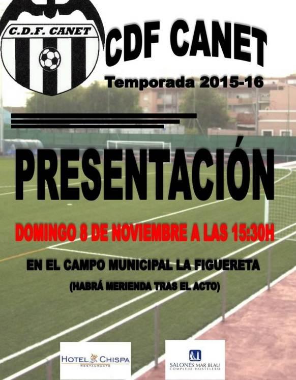 El Canet 2015-2016 se presenta el 8 de noviembre