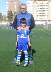 Alejandro Herrero con su padre