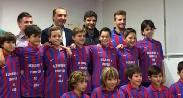 El Levante UD homenajea al 'super' Benjamín A 2014-2015
