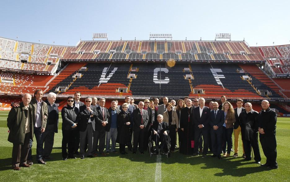 Homenaje a Don Elías en 2014 | Foto: Valencia CF