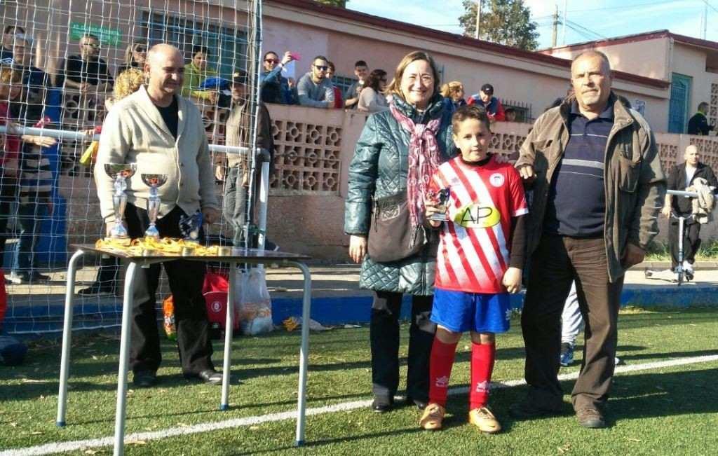 David Escudero, máximo goleador en el Torneo Operación Kilo (Paiporta) | Foto: Malvarrosa CF