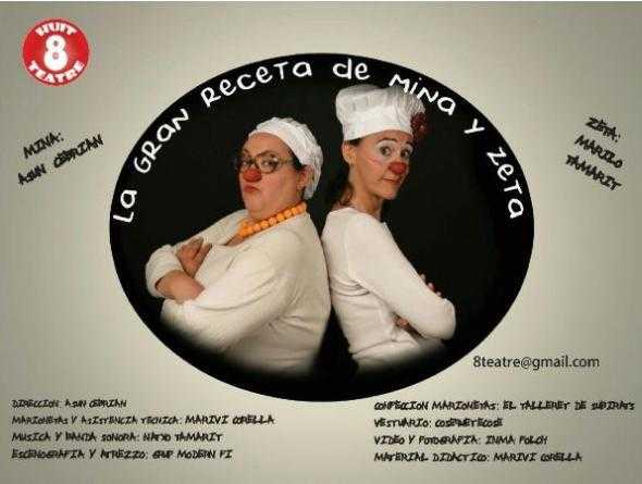 """Cartel promocional de """"La gran receta de Miña y Zeta"""""""