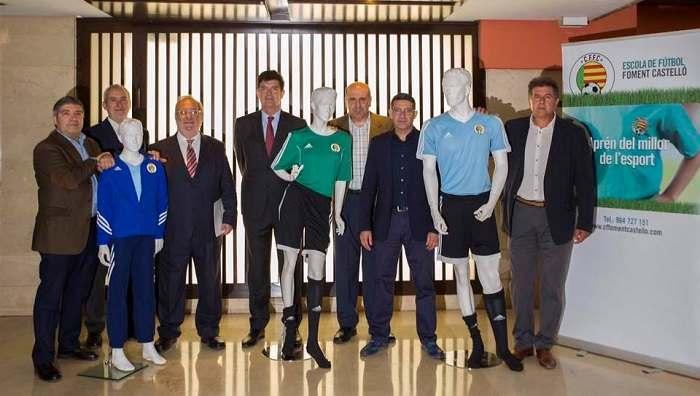 Responsables del nuevo club, CF Fomento Castellón | Foto: Blau i Groc