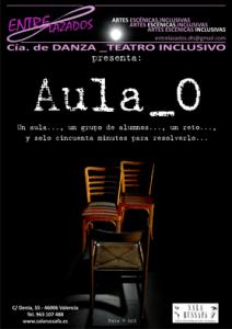 Cartel promocional de la obra de teatro Aula 0