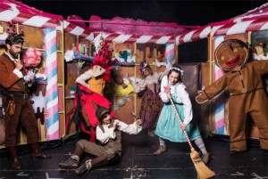 """Los actores y actrizes de la aventura musical """"Hansel y Gretel"""" ;Foto Teatro Flumen"""