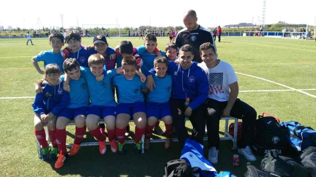 Jugadores del CF Malvarrosa | Foto: Pascual Escudero