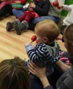 Taller para bebés de musicoterapia