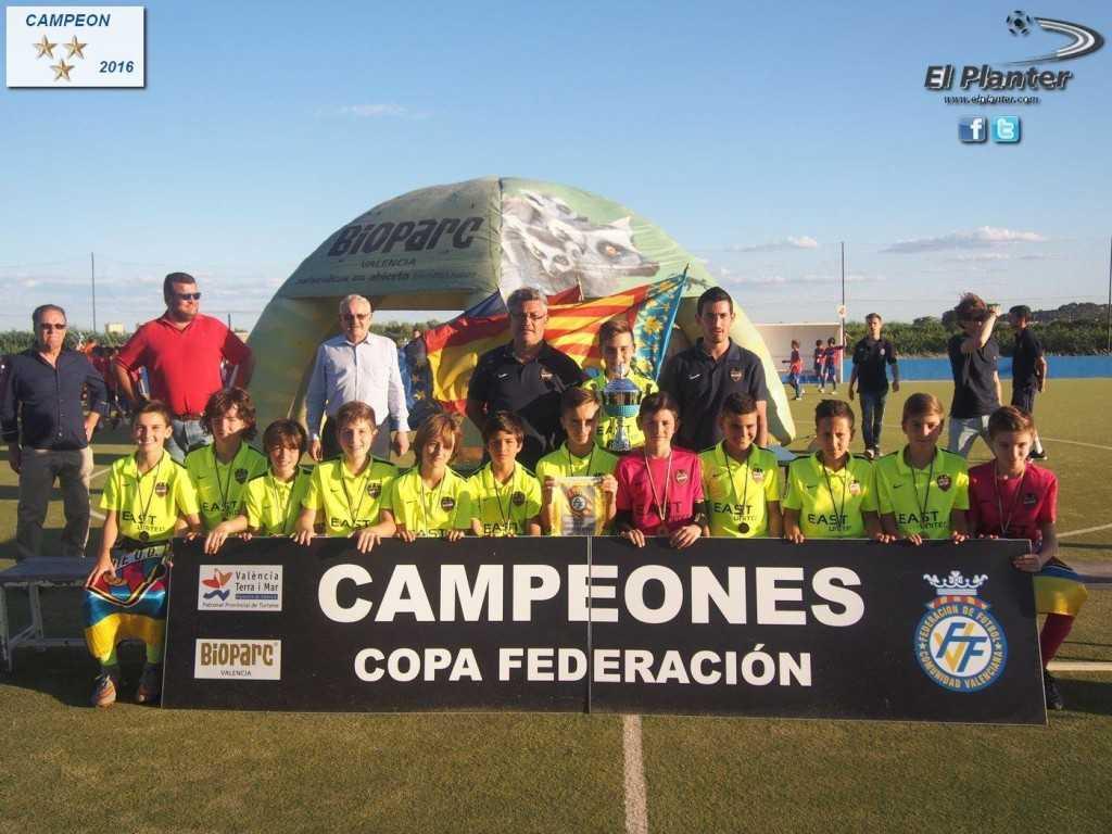 Levante UD, campeón de la categoría Alevín | Foto: El Planter