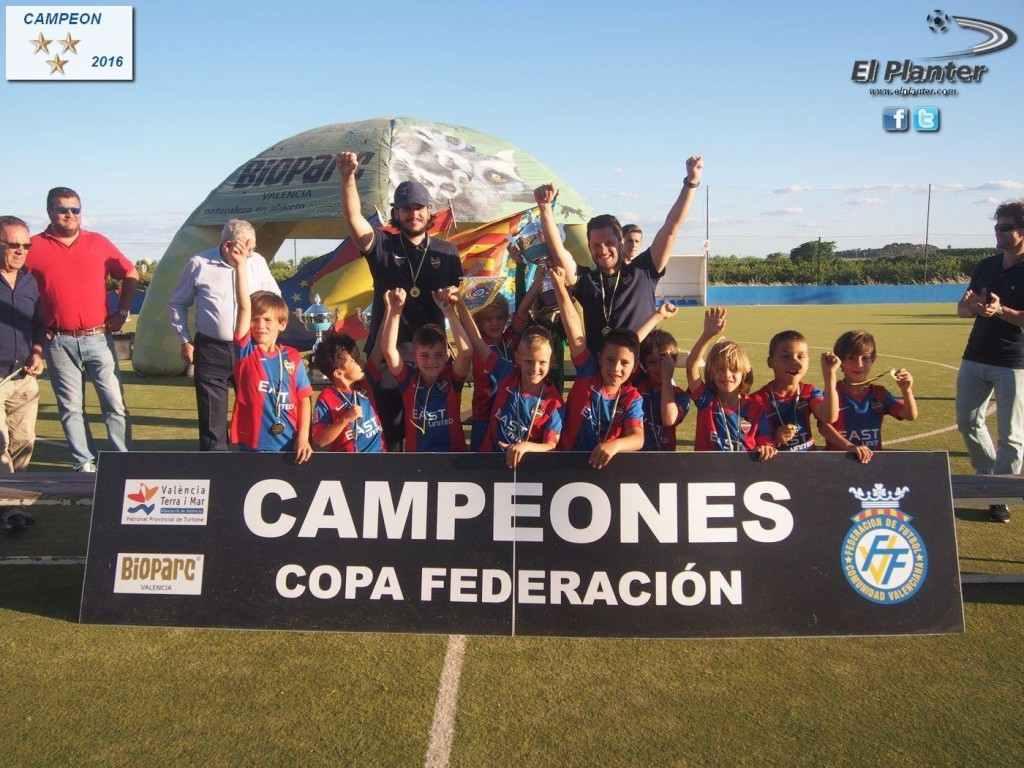 Levante UD, campeón de la categoría Prebenjamín Primer Año | Foto: El Planter