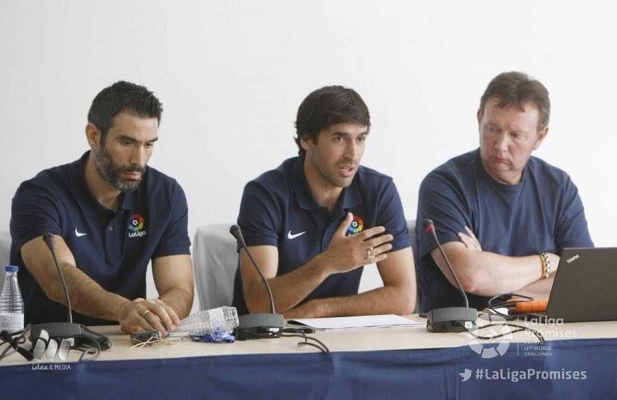 Fernando Sanz, Raúl González y Alfonso Mondelo | Foto: LFP