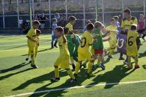 Los jugadores celebran el título | Foto: Villarreal CF