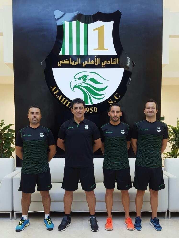 Cuerpo técnico de Félix Carvallo | Foto: Al-Ahli SC