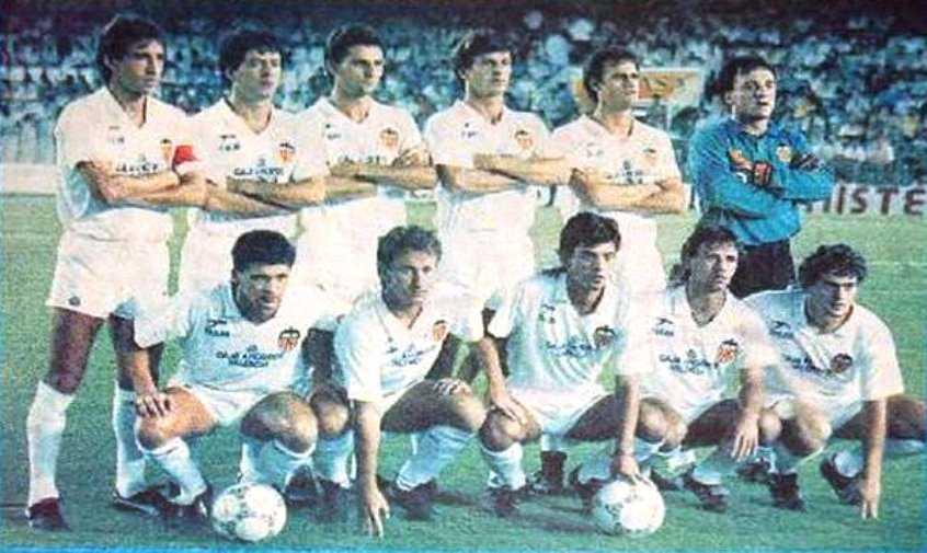XI del Valencia en la temporada 1987-1988 | Foto: Ciberche
