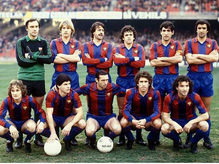 Alesanco (último a la derecha), en el Barça de los ochenta | Foto: FC Barcelona