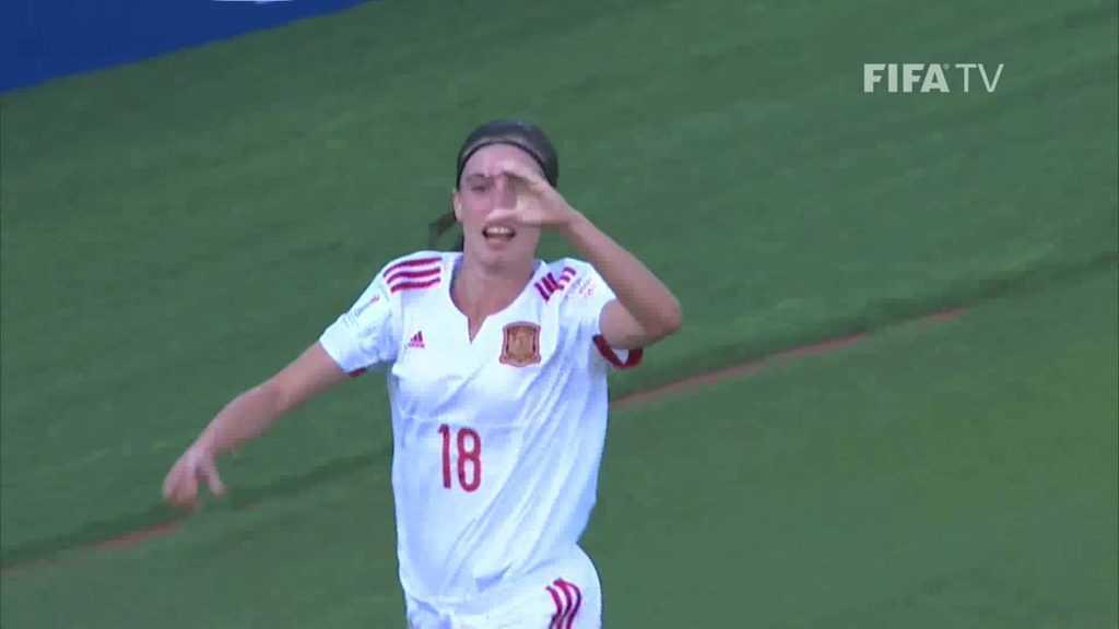 Eva celebra su gol ante Venezuela | Foto: FIFA