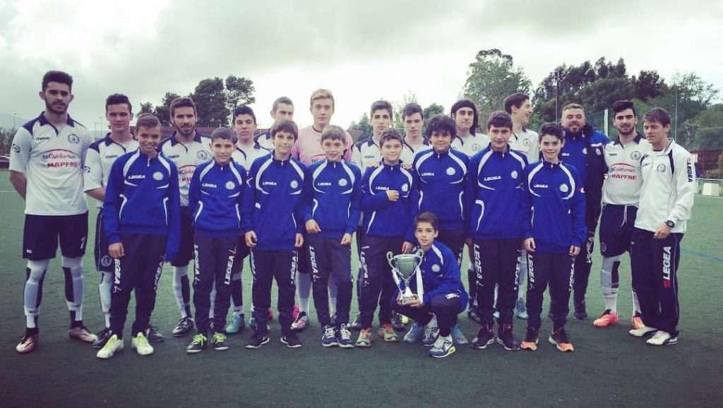 Juveniles del Gondomar en una imagen de la 2015-2016 | Foto: Gondomar FB