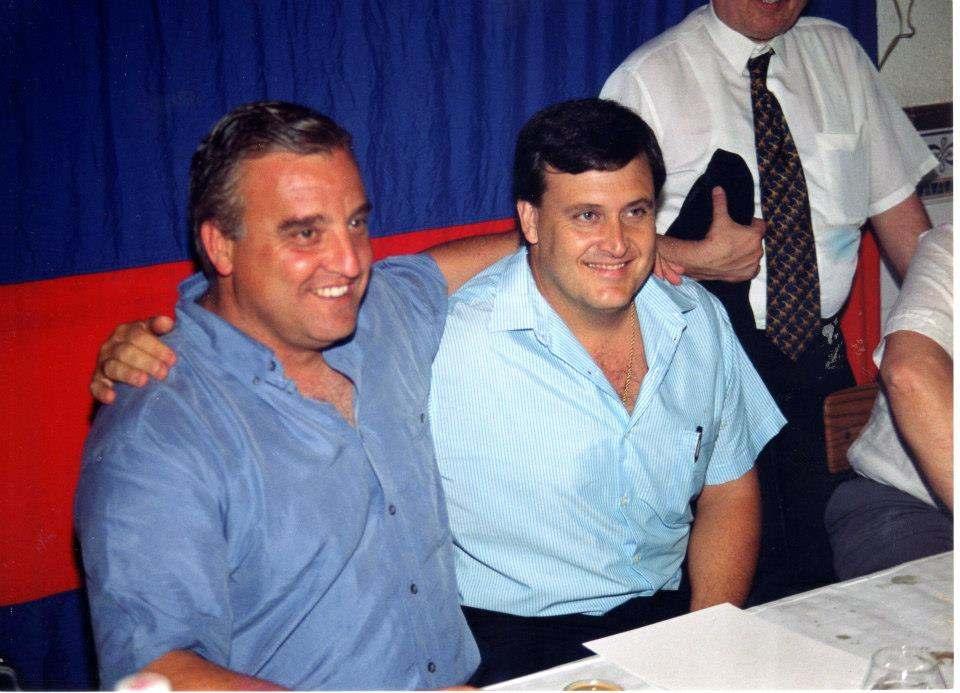 Paco, a la derecha, junto a Carlos Simón | Foto: Familia Paco Polit