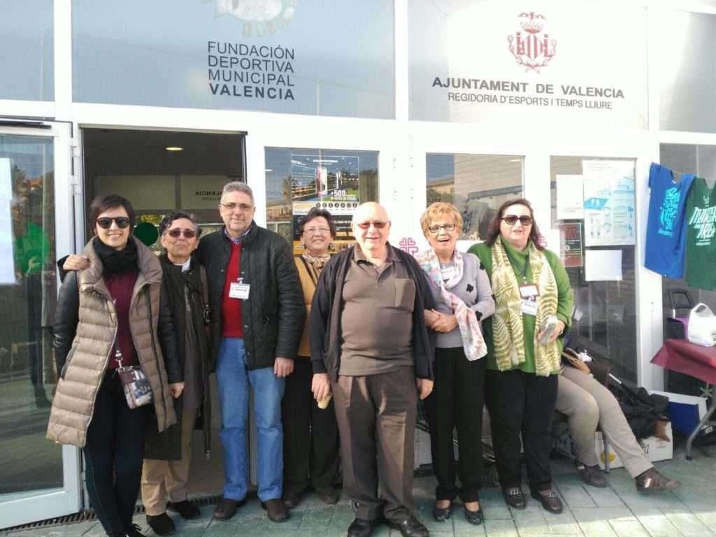 Voluntarios de Cáritas que acudieron al Memorial Paco Polit | Foto: Laure Catalá