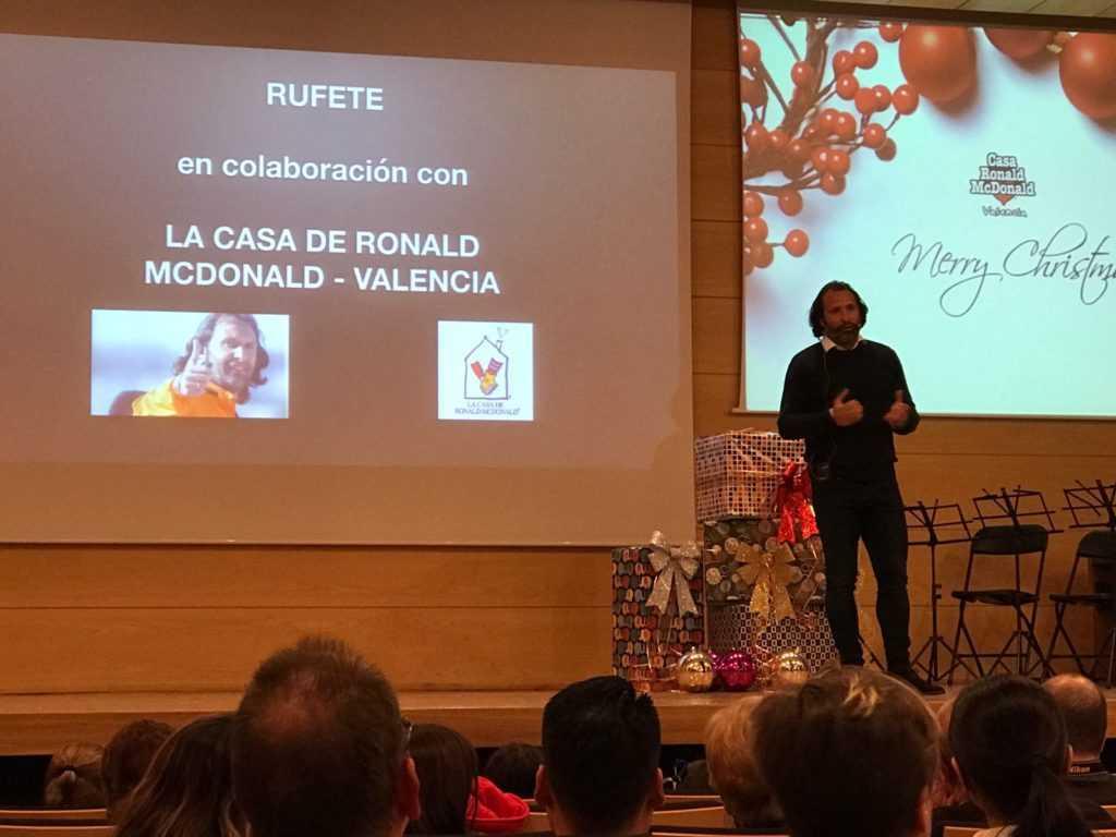 Rufete, en plena charla | Foto: Julio Insa