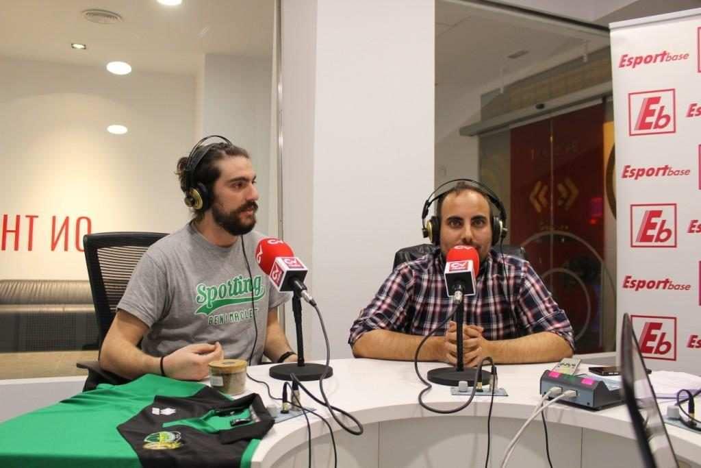 Daniel Pérez de Tudela (presidente) y Fran Torrecillas, secretario del Sporting | Foto: Ángel Ferrer