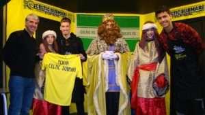 El Villarreal en la 'Festa de Nadal' de Celtic Submarí | FOTO: Club