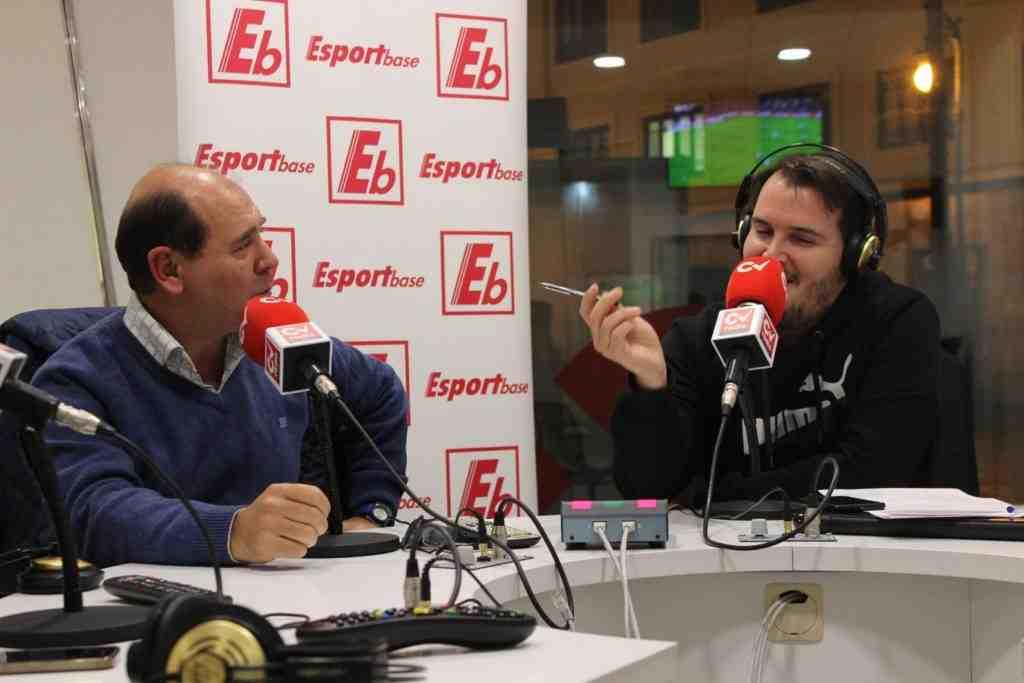 Ciraolo, a la izquierda, en una reciente visita a ESPORTBASE | Foto: Ángel Ferrer