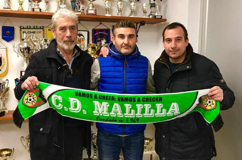 Juan Miguel Cerdán (presidente), Javier Sáez (director deportivo) y Gonzalo Vicente (vicepresidente) | Foto: CD Malilla
