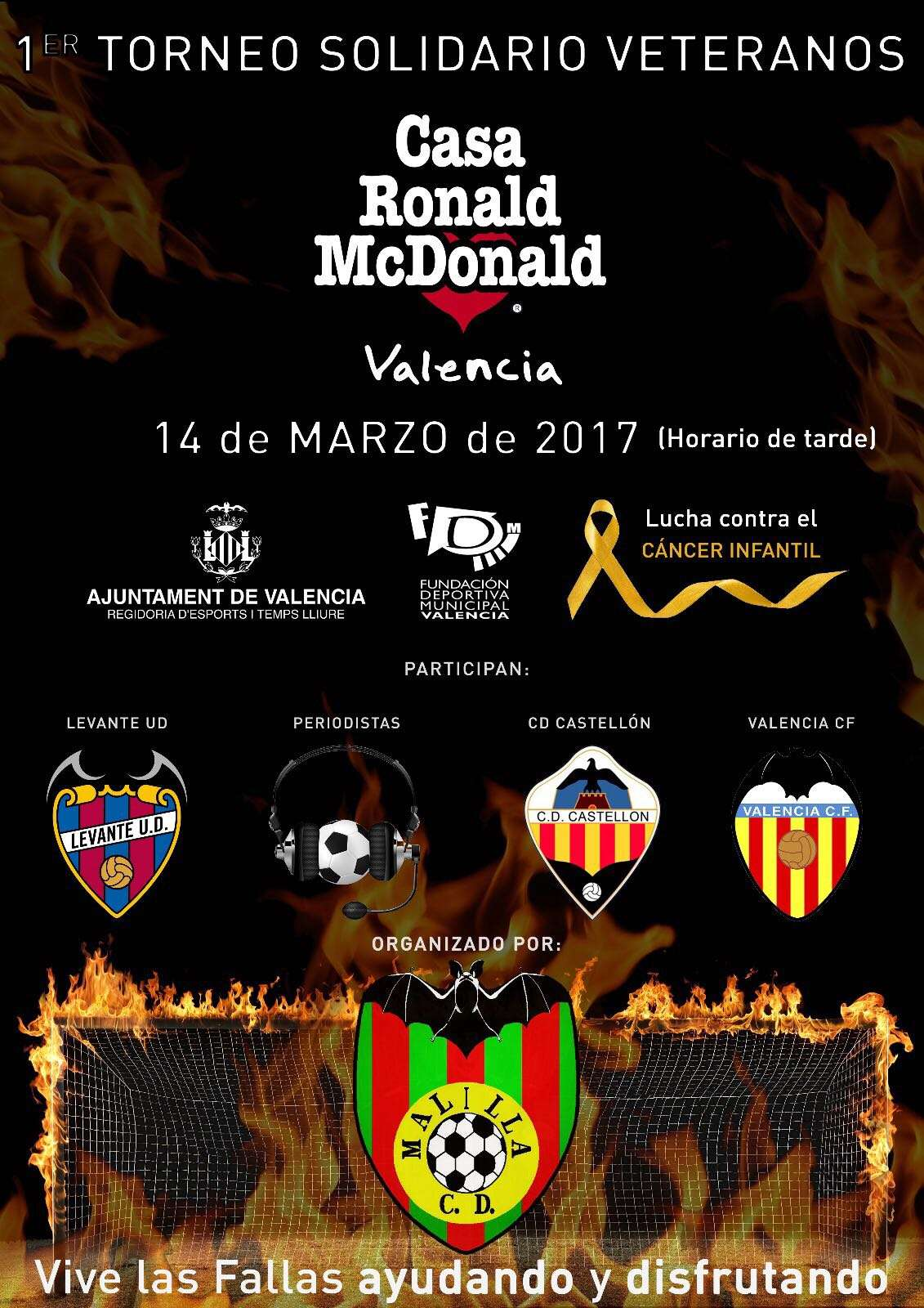 I torneo solidario del cd malilla y casa ronald mcdonald de valencia contra el c ncer infantil - Casa ronald mcdonald valencia ...