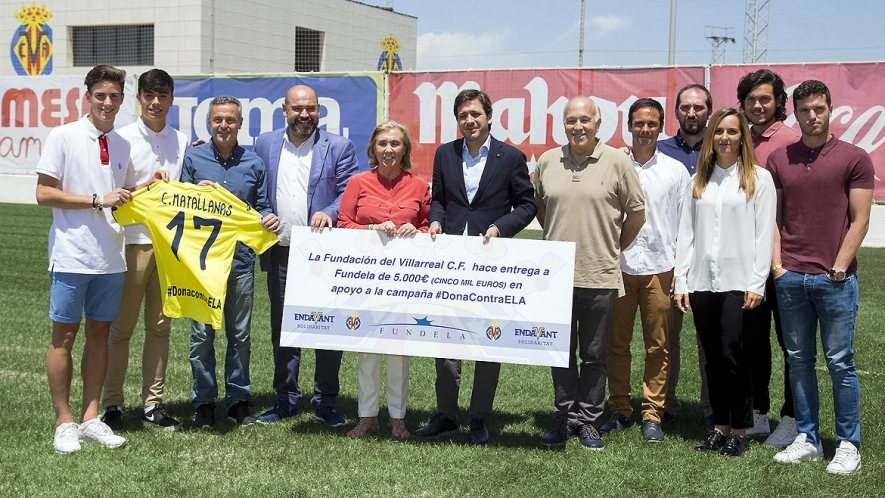 El Villarreal pone su granito de arena en la lucha contra la ELA
