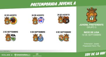 El Juvenil 'A' de la Unió Benetússer-Favara anuncia sus amistosos