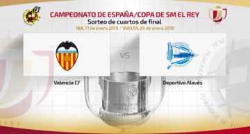 El Valencia tendrá que superar al Alavés para colarse en semifinales de Copa del Rey