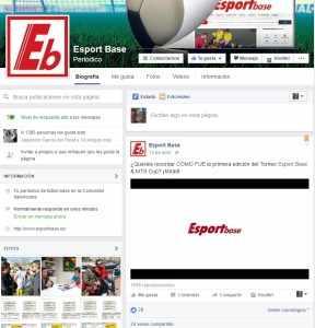 Perfil oficial de Esportbase en Facebook